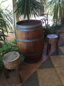 Wine Barrel and stools Port Kennedy Rockingham Area Preview