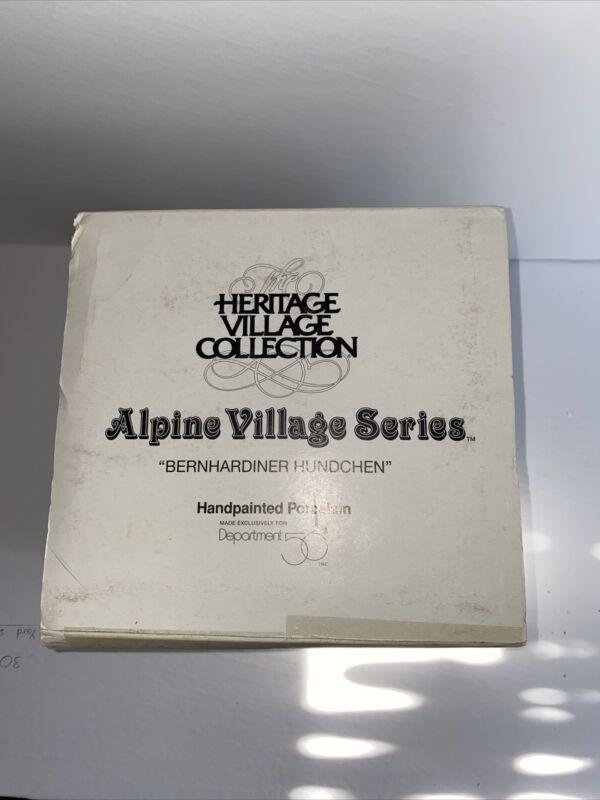 Dept 56 Alpine Village BERNHARDINER HUNDCHEN 56174 Excellent w/ box