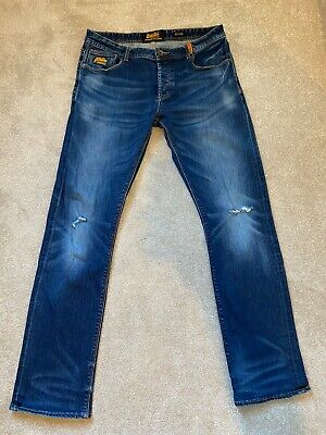 SUPERDRY Men's Officer Jeans 36W - 34L Copper Denim Classics L4