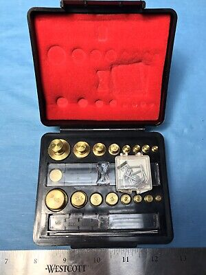 Troemner Apothecary Pharmacy Calibration Scale Weight 32 Pc.set - Ozgmmg