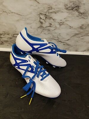wholesale dealer 99a0a 98e99 RlAdidas Messi 15.3 Soccer Shoes Cleats FG AG White Prime Blue RARE SZ US M  10.5