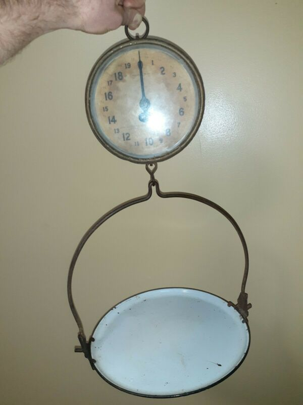 Antique Vintage Chatillon & Sons Hanging Produce Butcher General Store Scale20lb