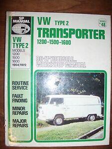 VW Transporter Type 2 Workshop Manual Crafers Adelaide Hills Preview