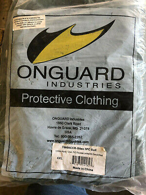 10x Onguard 4xl Protective Clothing 3pc Safety Suit Coveralls Hazmat Sitex Green