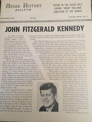 "JOHN F. KENNEDY IMPOSSIBLY RARE DECEMBER, 1963 ISSUE OF ""NEGRO HISTORY BULLETIN"""