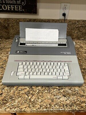 Smith Corona Sl560 Portable Electronic Typewriter With Spell Right Dictionary