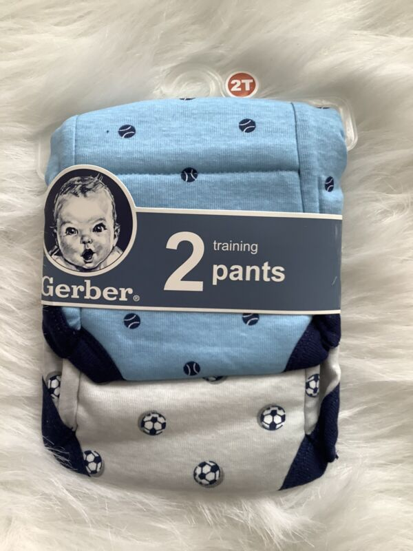 Gerber Boys 100% Cotton Sports Training Pants 2 Pack Size 2T NWT
