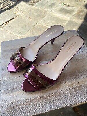 Prada Vintage Heels Size 38 1/2 Made In Italy
