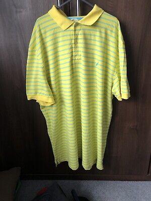nautica Golf polo shirt Xxl Yellow/light Blue