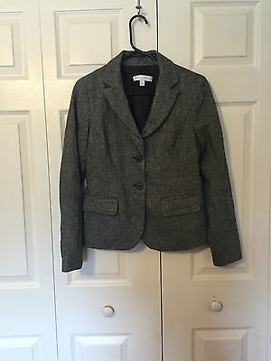 New York and Company Stretch gray button suit jacket 4 NEW