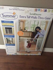 Baby Gate: Summer, extra-tall and wide.