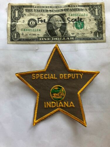 Special Deputy Indiana Police Patch Un-sewn great shape