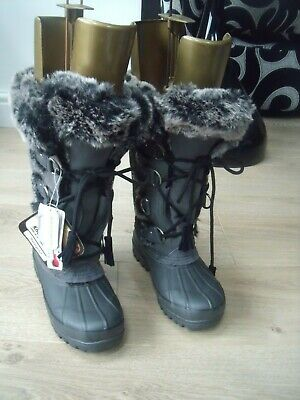 Khombu SIZE 4 Suede Faux Fur Insulated Waterproof Outsole Skid resistant New