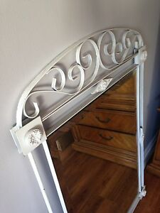 Large mirror with white cast-iron frame