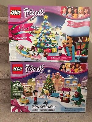 2 New Lego Friends Advent Calendar 3316 41016   Sealed