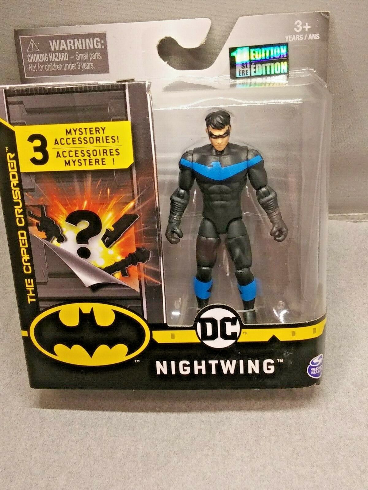 DC NIGHTWING 4 Inch Figure 1st Edition 3 Mystery Accessories