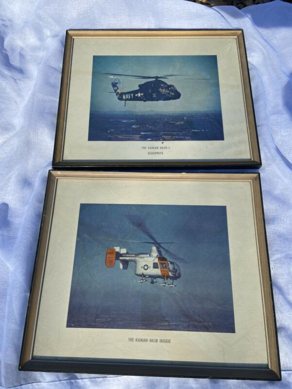 2 Vintage Kaman Picture Huskie Air Force Seasprite Navy Military Helicopter LOT