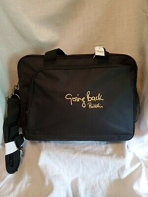 Used, PHIL COLLINS EMBROIDERED CANVAS ATTACHE BAG- LAPTOP BAG-BRIEF CASE for sale  Shipping to India