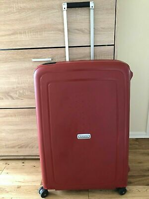 SAMSONITE RED S'CURE 4 WHEELS SPINNER 75CM WITH 3 DIGIT CODE SUITCASE