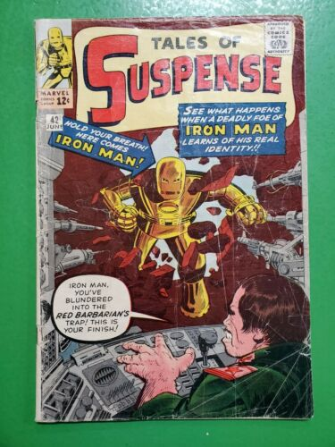 TALES OF SUSPENSE #42 4th Iron Man Jack Kirby Stan Lee 1963 Marvel GD