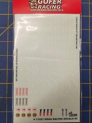 Gofer Racing 11051 Drag Racing Decals #2   1/24 1/25  Mid America Naperville for sale  Bloomington