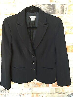 Ann Taylor Petites Womens Black Blazer 8P Business Career Suit (Petite Business Suits)