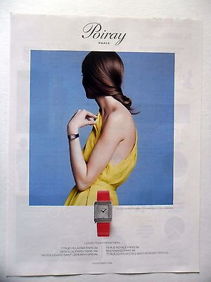 Publicite-advertising :  poiray collection ma première - 1 montre  2014