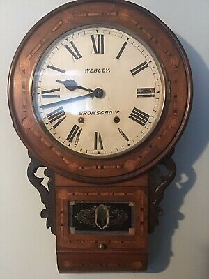 Antique Bromsgrove wall clock,strikes on a bell,running a treat Please Look