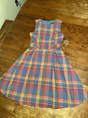 New ModCloth Plaid Vintage Style A-line Dress Womens Size 4