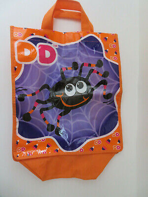 Dunkin Donuts Halloween (Dunkin Donuts Trick Or Treat Bags Spider & Candy Corn Halloween Reusable Bag)