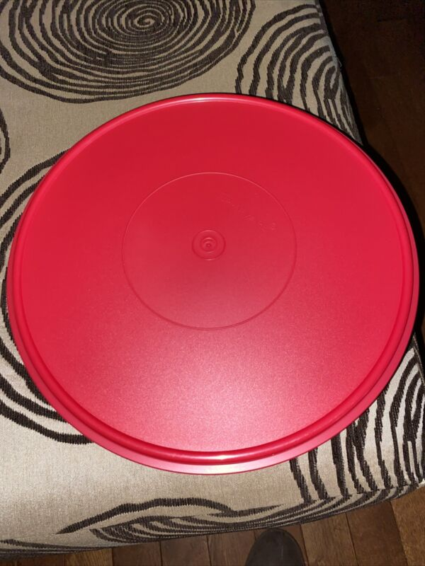 NEW Tupperware Flat Bottom Large Bowl With Red Lid