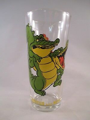 Disney's Rescuers ~ Brutus & Nero (Alligators) ~ 1977 Pepsi Brockway Glass