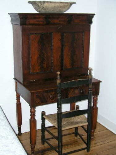 Antique 2 Piece Walnut Plantation Desk Ca. 1890