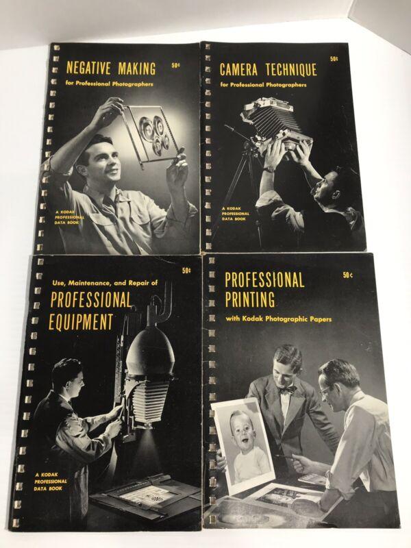 Vintage Kodak Professional Data Book Photography Bundle (4 Books) 1951/1952