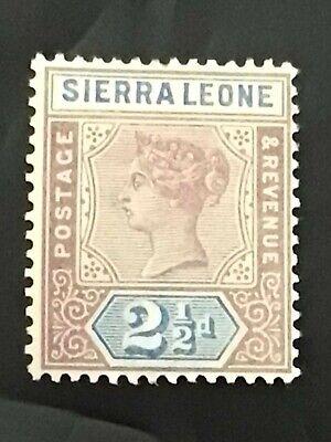 Sierra Leone stamp QV 1896 2 1/2d lilac MH