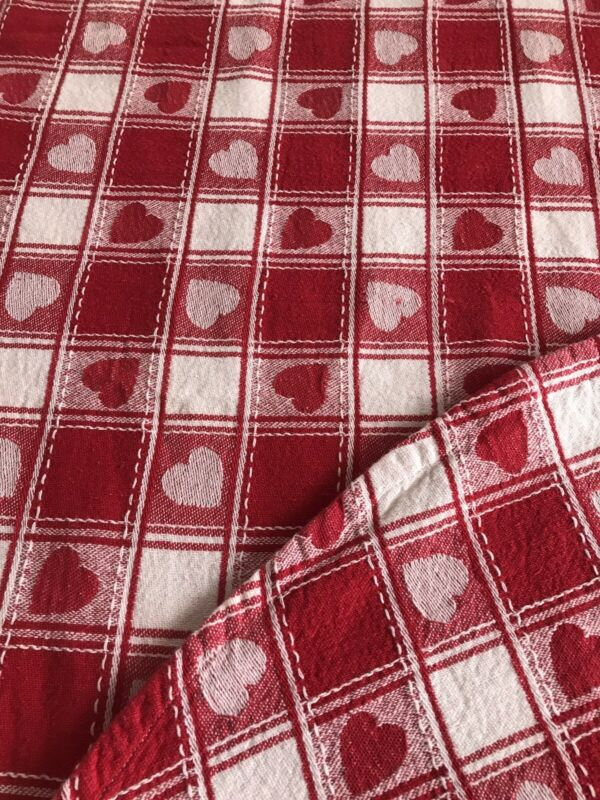 Vintage Valentine Heart Checker Tablecloth