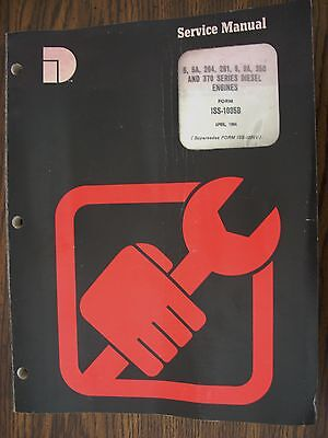 Ih Farmall Mccormick International Diesel Engine Service Manual Td6 Td9 400 450