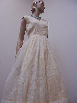 Supersüßes Kleid True Vintage 50er Jahre Petticoat Rockabella 40 42 Perlon