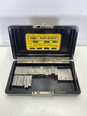 Doall Precision Gages Shop Blocks 380 With Over 30 Blocks In Case