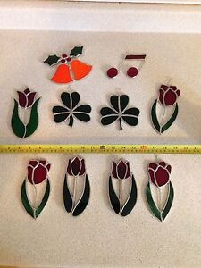 Vintage Stained Glass Window Sun Catchers