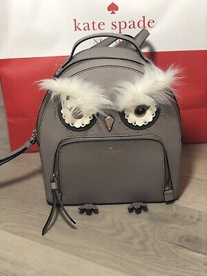 Kate Spade Star Bright Owl Tomi Cityscape Leather Mini Backpack