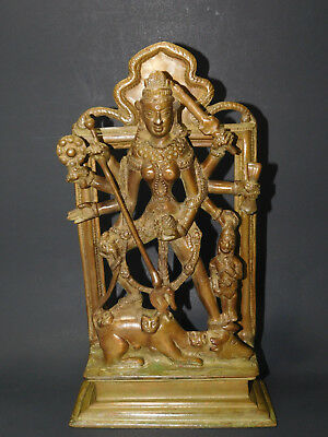 """VINTAGE BRONZE KALI HINDUISM DEITY STATUE REMOVER OF IGNORANCE FROM INDIA 13.5""""H for sale  Brooklyn"""