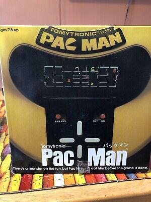 Tomytronics Pac Man YELLOW Tabletop Video Game 1981 in original box