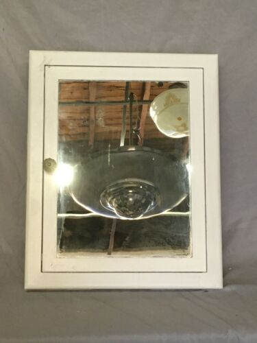 Vtg Industrial Recessed Metal Medicine Cabinet Cupboard Mirror Old 430-20E