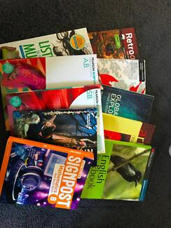 YEAR 8 TEXTBOOKS $20 EACH OR $200 FOR ALL