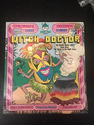 SEALED Peter Pan Records 45rpm EP Witch Doctor Halloween Spooky Songs](Halloween Witch Song)