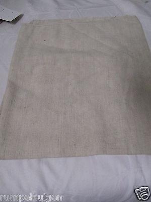 Alter Stoff aus Grobleinen weiß 60er Jahre 124 cm x 143/ 14
