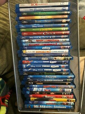 Disney Pixar DVD Movies Blu Ray and DVD