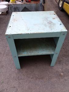 Steel work bench table tools industrial vintage shelves Welders