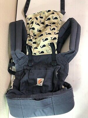 Infant Original ERGO Baby Ergobaby Marine  Blue Whale Print Carrier for sale  Shipping to South Africa